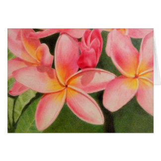 Thoughts of Plumeria Card