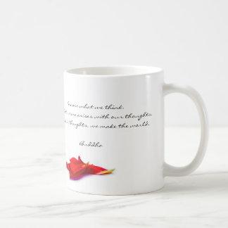 Thoughts World Buddha Quote Mug