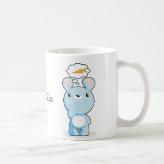 Thoughtul & Hungry Bunny Mug