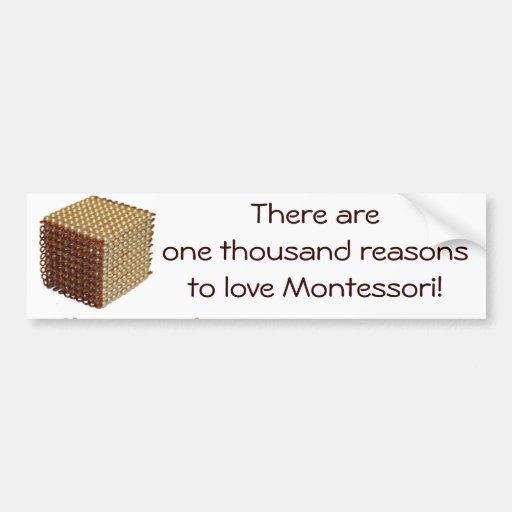 Thousand Reasons to Love Montessori Bumper Sticker