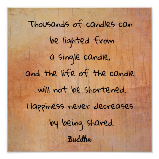 Thousands Of Candle --- Buddha quote _art print