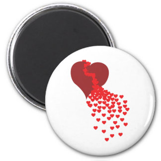 Thousands Of Hearts 6 Cm Round Magnet
