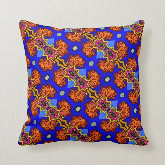THP - 001 - Blue & Orange - Throw Pillow