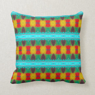 THP - 028 - Blue-Red-Yellow Cushion