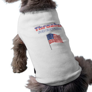 Thrasher for Congress Patriotic American Flag Desi Sleeveless Dog Shirt