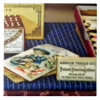 Thread And Pins In General Store Ceramic Tile