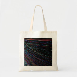 Thread lines from a summer festival tote bag