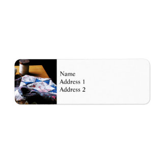 Thread, Pincushion and Cloth Return Address Label