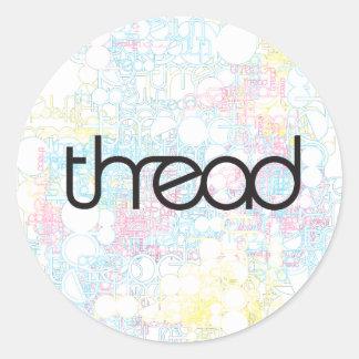 Thread Show Round Sticker