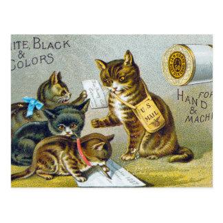 Thread Trade Card, 1880 Postcard