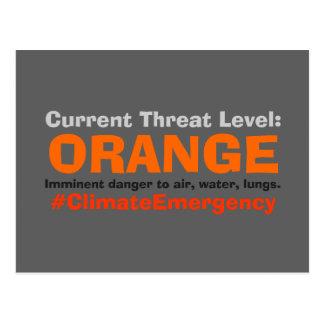 Threat Level Orange Protest Trump Postcard