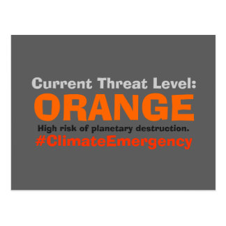 Threat Level Orange Resist Trump Postcard