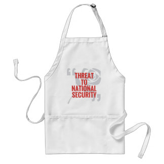 Threat To National Security Standard Apron