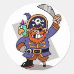 Threatening Pirate Classic Round Sticker