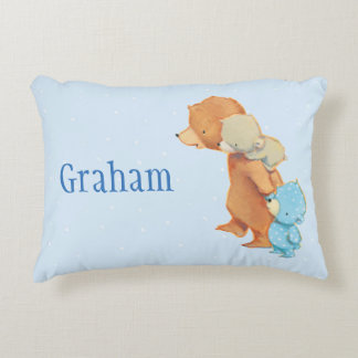 Three Adorable Bear Friends Decorative Cushion