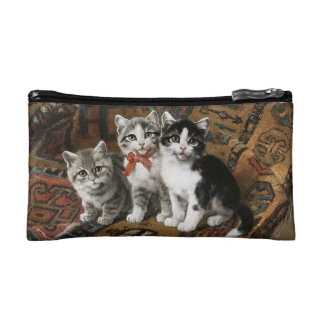 Three Adorable Kittens Cosmetic Bag