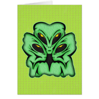 Three Alien Invaders Cards