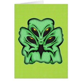 Three Alien Invaders Greeting Card