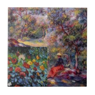 Three amazing masterpieces of Renoir's art Ceramic Tile