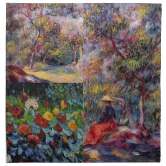 Three amazing masterpieces of Renoir's art Napkin