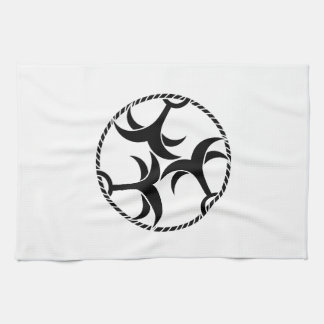 Three anchors with rope hand towel