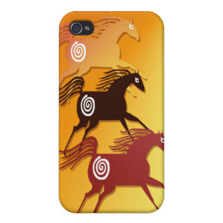 Three Ancient Horses  Case For The iPhone 4