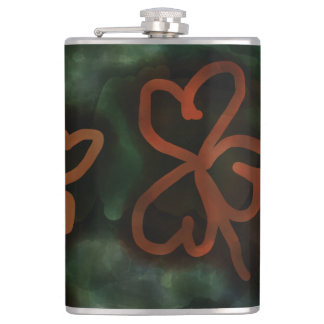 Three and Four-Leaf Clovers Flask!