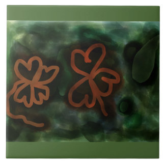 Three and Four-leaf Clovers tile