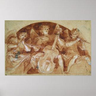 Three Angel Musicians Poster