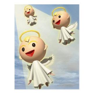 Three Angels, CG, 3D, Illustration, Low Angle Postcard