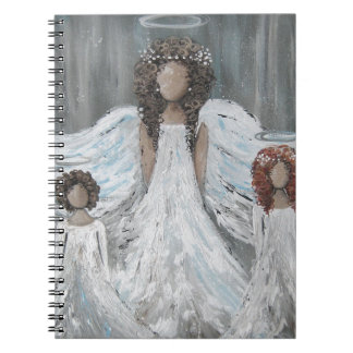 Three Angels Spiral Notebook