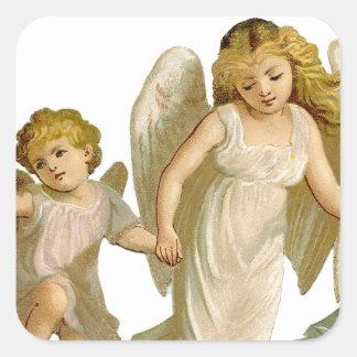 Three angels square sticker