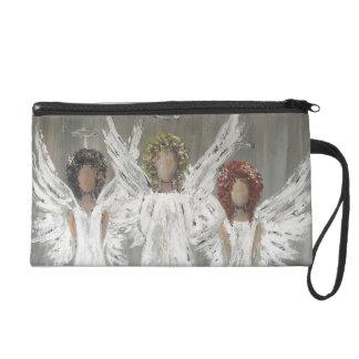 Three Angels  Travel Accessory Bag Wristlet