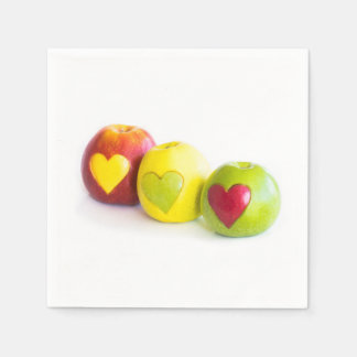 Three apples disposable napkin