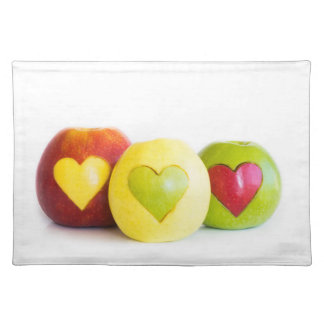 Three apples placemat