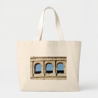 three arch wall large tote bag