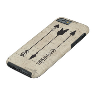 Three arrows on birch wood iphone 6 case