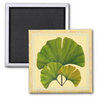Three Arts and Crafts Ginkgo Leaves Magnet