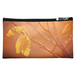 Three autumn leaves cosmetic bag