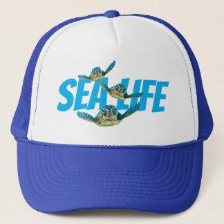 Three Baby Sea Turtles Swimming Trucker Hat