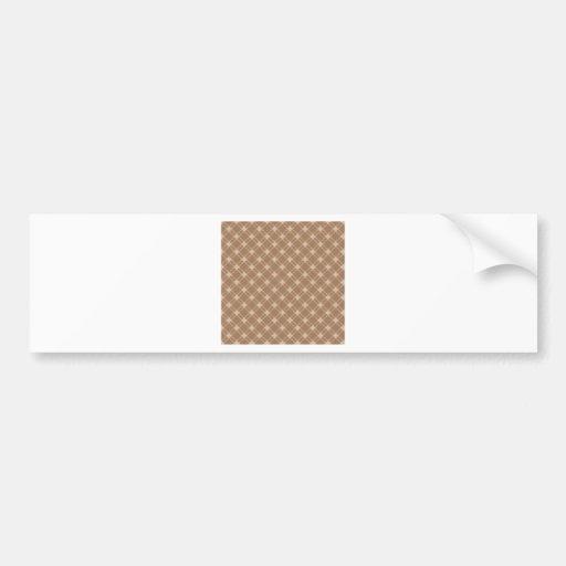 Three Bands Large Diamond - Brown2 Bumper Sticker