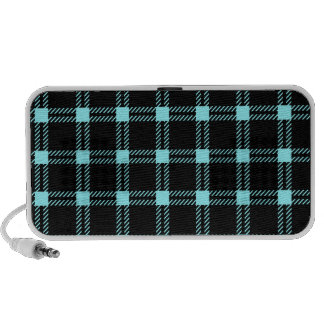 Three Bands Large Square - Electric Blue on Blue Laptop Speaker
