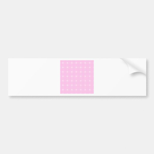 Three Bands Large Square - Pink2 Bumper Stickers