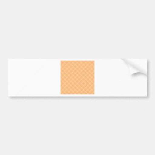 Three Bands Small Diamond - Orange1 Bumper Stickers
