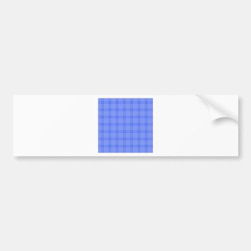 Three Bands Small Square - Blue1 Bumper Stickers