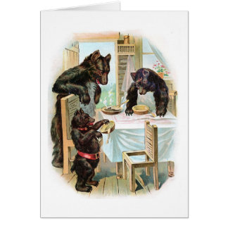 Three Bears Eat Porridge, Card