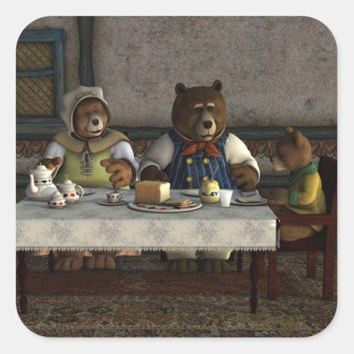 Three Bears Sticker