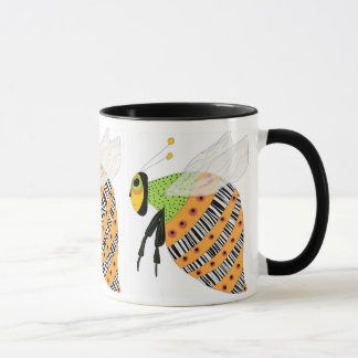 Three Bee Barcode Bee Mug