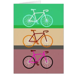 Three Bicycles Card