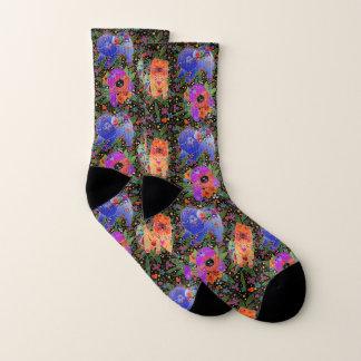 THREE BINDI CHOWS -  black background socks 1